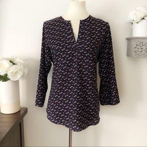 Market & Spruce bird print blouse